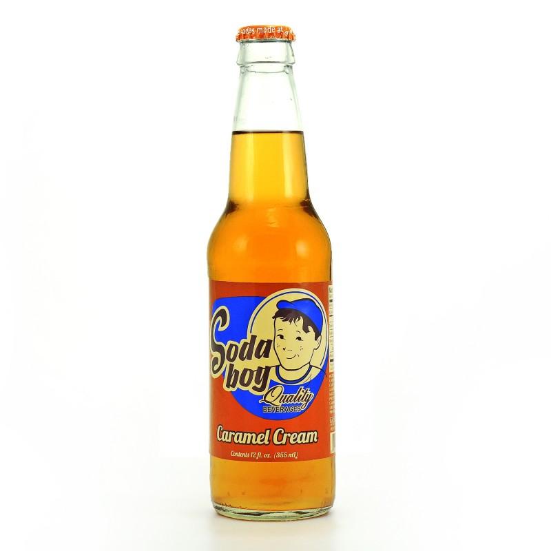 Retro Soda Boy Caramel Cream in a Glass Bottle