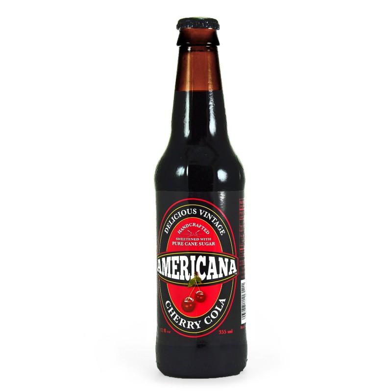 Retro Americana Cherry Cola Soda in a Glass Bottle
