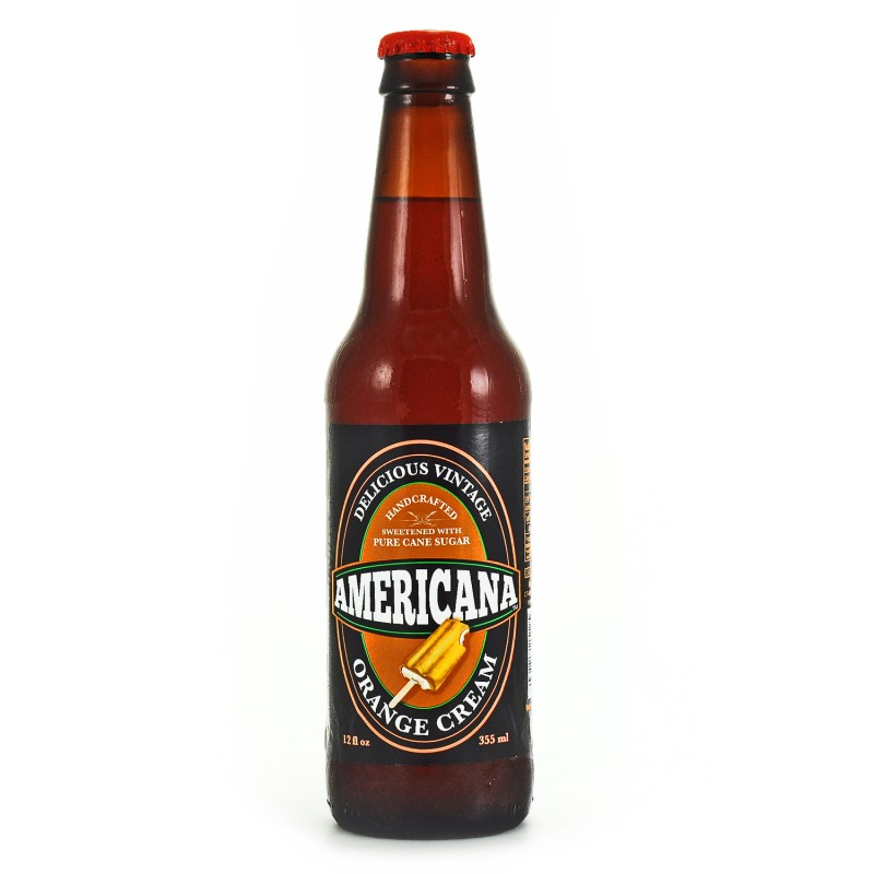 Retro Americana Orange Cream Soda in a Glass Bottle