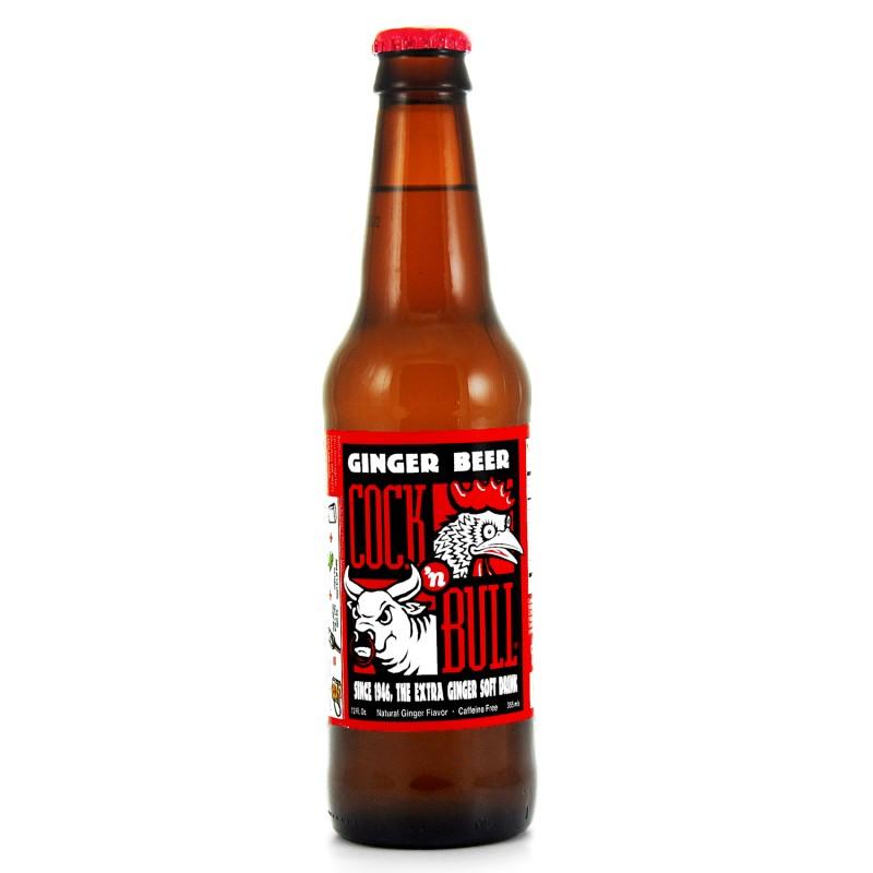 Retro Cock n Bull Ginger Beer Soda in a Glass Bottle