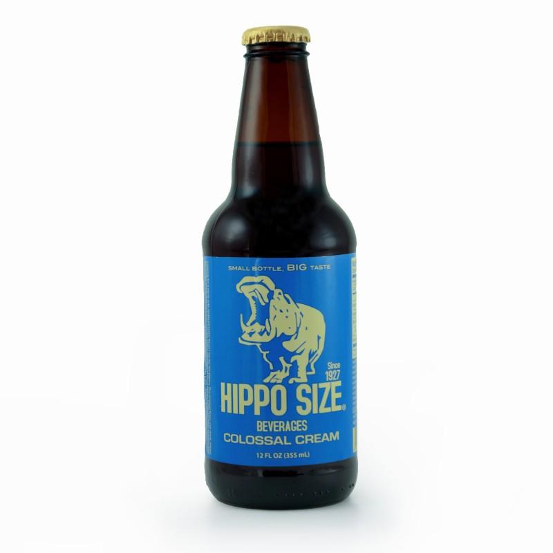 Retro Hippo Cream Soda in a Glass Bottle