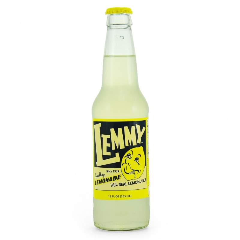 Retro Lemmy Lemonade Soda in a Glass Bottle