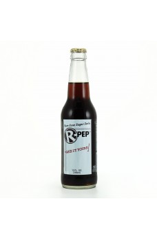 Retro R Pep Soda in a Glass Bottle