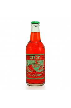 Retro Sioux City Cherries & Mint Soda in a Glass Bottle