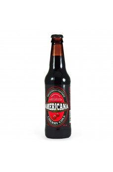 Retro Americana Cherry Cola Soda in a Glass Bottle