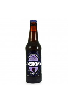 Retro Americana Huckleberry Soda in a Glass Bottle