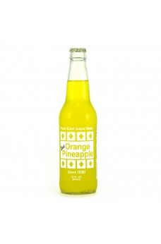 Retro Excel Orange Pineapple Soda in a Glass Bottle
