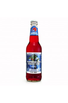 Retro Flathead Lake Blueberry Pomegranate Soda in a Glass Bottle