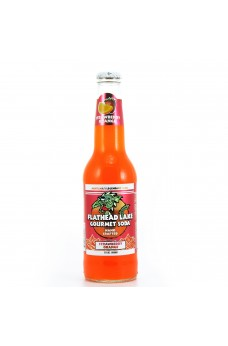 Retro Flathead Lake Strawberry Orange Gourmet Soda in a Glass Bottle