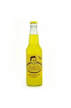 Retro Goody Yellow Soda in a Glass Bottle