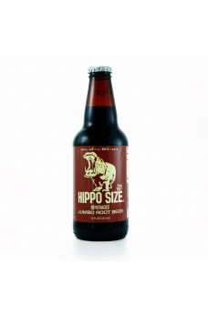 Retro Hippo Root Beer Soda in a Glass Bottle