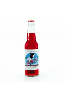 Retro Orca Black Cherry Soda in a Glass Bottle