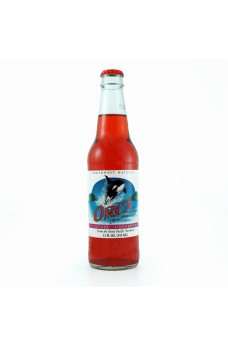 Retro Orca Raspberry Soda in a Glass Bottle