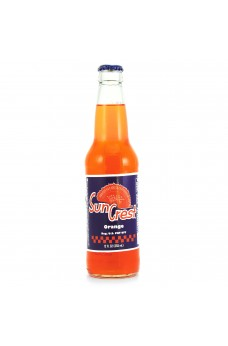 Retro Sun Crest Orange Soda in a Glass Bottle