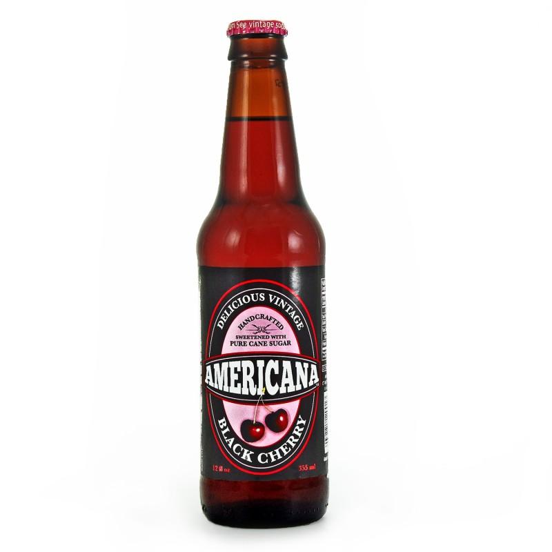 Retro Americana Black Cherry Soda in a Glass Bottle