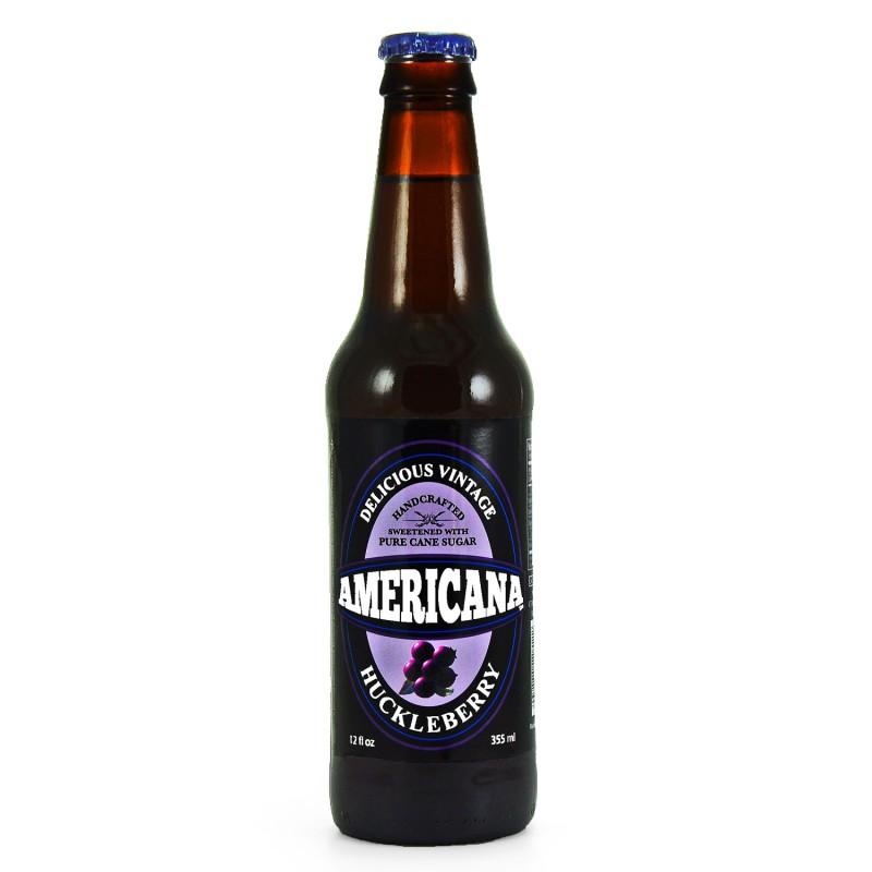 Retro Americana Huckleberry Soda in a Glass Bottle
