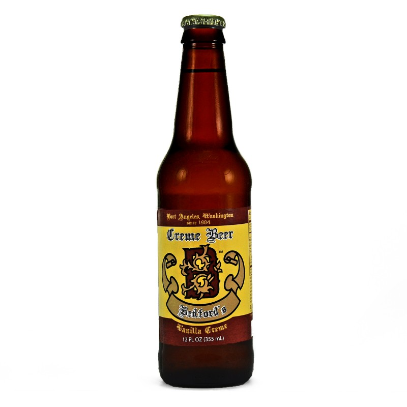 Retro Bedfords Creme Beer Soda in a Glass Bottle