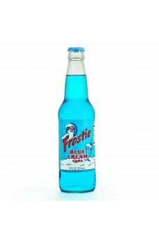 Retro Frostie Blue Cream Soda in a Glass Bottle