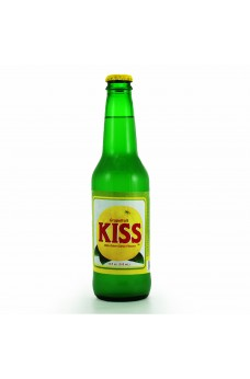 Retro Kiss Grapefruit Soda in a Glass Bottle
