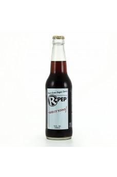 Retro R Pep Soda in a Glass Bottle