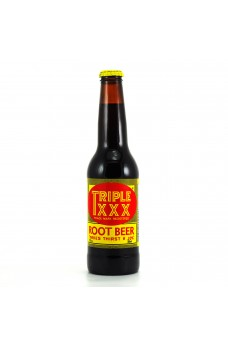 Retro Triple XXX Root Beer in a Glass Bottle