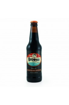Retro Brownie Caramel Root Beer Soda in a Glass Bottle