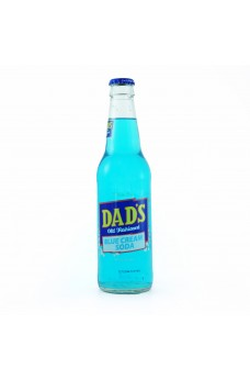 Retro Dad's Blue Cream Soda in a Glass Bottle