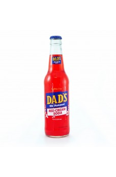 Retro Dad's Red Cream Soda in a Glass Bottle