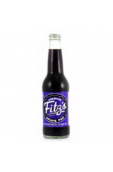Retro Fitzs Grape Soda in a Glass Bottle