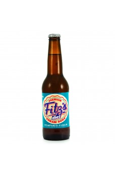 Retro Fitzs Diet Cream Soda in a Glass Bottle