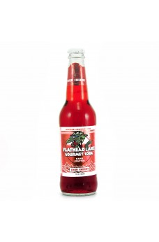 Retro Flathead Lake Sour Cherry Gourmet Soda in a Glass Bottle