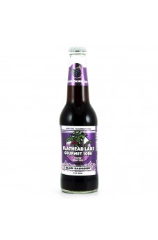 Retro Flathead Lake Black Rasberry Soda in a Glass Bottle