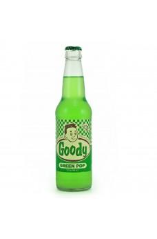 Retro Goody Green Soda in a Glass Bottle